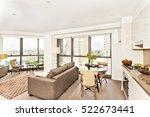 modern room view near kitchen... | Shutterstock . vector #522673441
