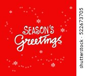 seasons greetings. hand... | Shutterstock .eps vector #522673705