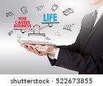work life balance  young man... | Shutterstock . vector #522673855