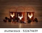 Christmas Candle Holders With...