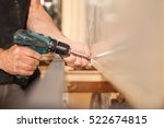 detail of hands fastening... | Shutterstock . vector #522674815