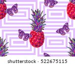 summer jungle pattern with... | Shutterstock .eps vector #522675115