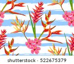 summer jungle pattern with... | Shutterstock .eps vector #522675379