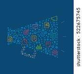 business marketing symbol... | Shutterstock .eps vector #522675745