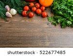 vegetables  tomatoes  garlic ... | Shutterstock . vector #522677485