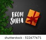 from santa christmas greeting... | Shutterstock .eps vector #522677671
