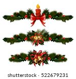 christmas decorations with fir... | Shutterstock .eps vector #522679231
