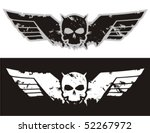 skull with wings. vector...