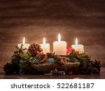 advent  wreath with four... | Shutterstock . vector #522681187
