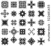 vector set of different tribal... | Shutterstock .eps vector #522681655