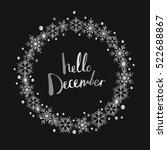 hello december. print design | Shutterstock .eps vector #522688867