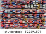 container ship in export and... | Shutterstock . vector #522691579