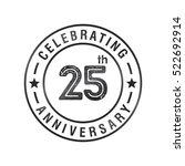 twenty five anniversary... | Shutterstock .eps vector #522692914