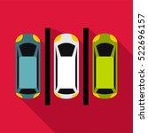 parking icon. flat illustration ... | Shutterstock .eps vector #522696157