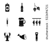 pub icons set. simple... | Shutterstock .eps vector #522696721
