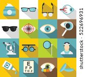 ophthalmologist tools icons set.... | Shutterstock .eps vector #522696931