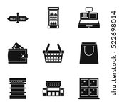 purchase in shop icons set.... | Shutterstock .eps vector #522698014