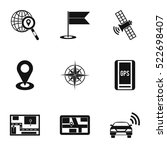 location icons set. simple...   Shutterstock .eps vector #522698407