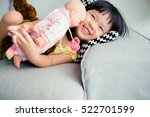 Adorable Little Girl Smile And...