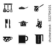 kitchenware icons set. simple... | Shutterstock .eps vector #522704101
