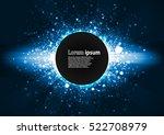 blue glitter party poster... | Shutterstock .eps vector #522708979
