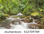 Small photo of Beautiful river with small rapids, in the middle of a rainforest located in the venezuelan Andes Mountains, in Barinas state.