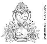 decorative antique hourglass... | Shutterstock .eps vector #522710047