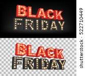 abstract vector black friday... | Shutterstock .eps vector #522710449