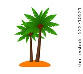 palm isolated green plant nature | Shutterstock .eps vector #522710521