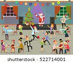 people celebrate the new year... | Shutterstock .eps vector #522714001