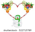 heart shaped frame with... | Shutterstock .eps vector #522715789