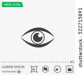 eye icon   vector | Shutterstock .eps vector #522715891