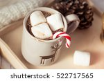 christmas mood. cozy christmas... | Shutterstock . vector #522717565