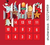 countdown to christmas advent... | Shutterstock .eps vector #522719959