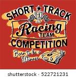 cute short track racing team ...   Shutterstock .eps vector #522721231