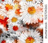 imprints flower like daisy.... | Shutterstock . vector #522724261