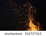 bonfire spark in the dark sky... | Shutterstock . vector #522727315