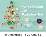 merry christmas and happy new... | Shutterstock .eps vector #522728761