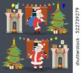 santa claus came to the house... | Shutterstock .eps vector #522739279
