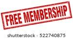 free membership. stamp. square... | Shutterstock .eps vector #522740875