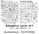 business doodles sketch vector... | Shutterstock .eps vector #522743581