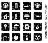 ecology icons set icons in... | Shutterstock .eps vector #522744889