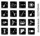 Musical Instruments Icons Set...