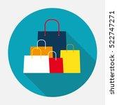 shopping bag design icon.... | Shutterstock .eps vector #522747271