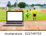 computer on the table   blur... | Shutterstock . vector #522749755