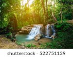 Waterfall In Forest Jungle....