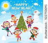 happy new year. 2017. winter...   Shutterstock .eps vector #522753091