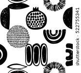 monochrome minimalistic tribal... | Shutterstock .eps vector #522755341