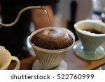 drip brew coffee. ground coffee ... | Shutterstock . vector #522760999