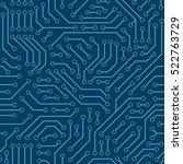 computer circuit board.... | Shutterstock .eps vector #522763729
